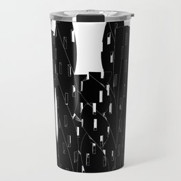 Abstract Cityscape Black and White Travel Mug