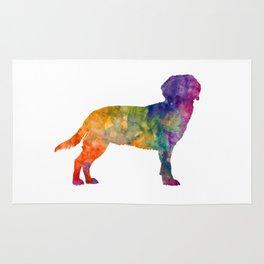 Tyrolean Hound in watercolor Rug