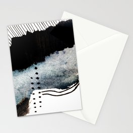 Closer - a black, blue, and white abstract piece Stationery Cards