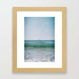 Boat on a Wave Framed Art Print