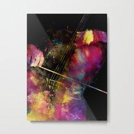 Violoncello art 1 #violoncello #cello #music Metal Print