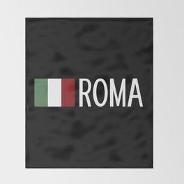 Italy: Italian Flag & Roma Throw Blanket