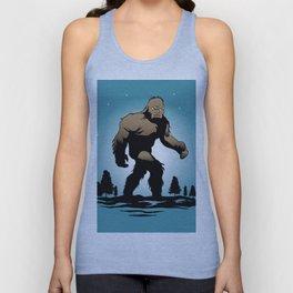 Bigfoot Silhouette Illustration. Unisex Tank Top