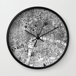Vintage Map of London England (1860) BW Wall Clock