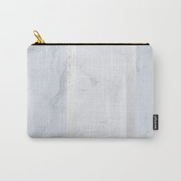 Marble Silver Carry-All Pouch