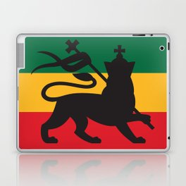 rastafarian flag with the lion of judah (reggae background) Laptop & iPad Skin
