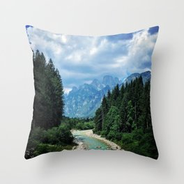 Wood as a chance of existence Throw Pillow