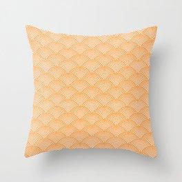 Japanese Dots Fade Tangerine Throw Pillow