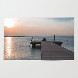 Watching the Sunset on the dock Rug