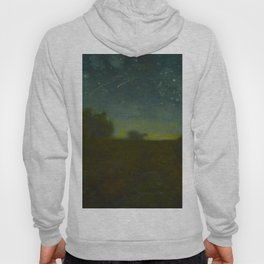Jean-François Millet - Starry Night - Ombre Yellow Green Nightscape Hoody
