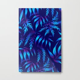Brooklyn Forest - Blue Metal Print