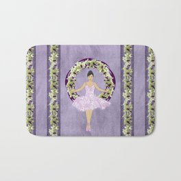 Ballerina Orchid Wreath Bath Mat