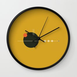 Mid Geo 01 // Mid Century Modern Minimalist Illustration Wall Clock