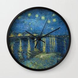 Van Gogh Starry Night Over the Rhone Wall Clock