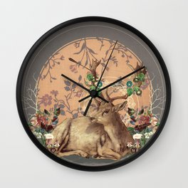 Deer Dandy Wall Clock