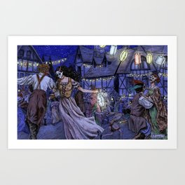 The Lantern Dance Art Print