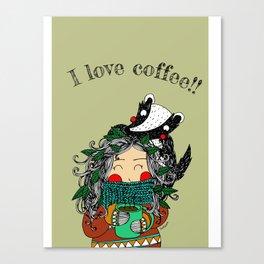 I Love Coffee!!! Canvas Print