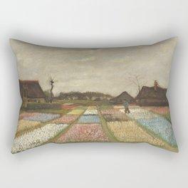 Vincent van Gogh Flower Beds in Holland c. 1883 Painting Rectangular Pillow