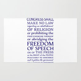 Defend Your Freedom of Speech Rug