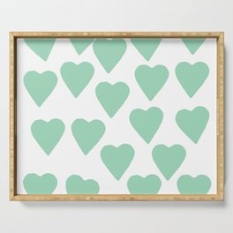 Hearts Mint Serving Tray