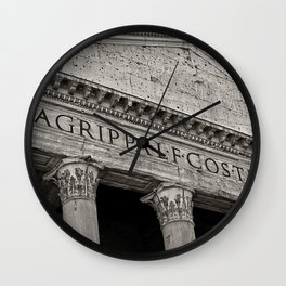 The Pantheon black and white Wall Clock