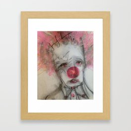 be my frown Framed Art Print