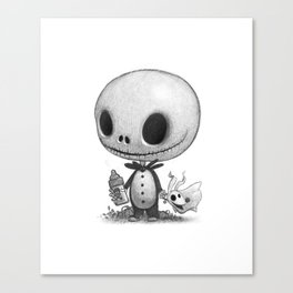 Lil Jack Skellington Canvas Print