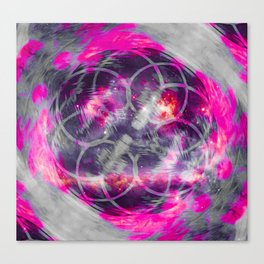 iDeal - Pink Fog Canvas Print