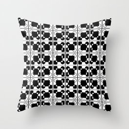 BW-pattern 2 Throw Pillow