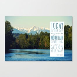 Get On Your Way! Canvas Print