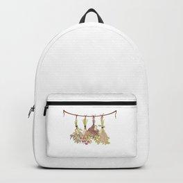 herbs in pastel colors . Backpack