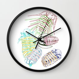Silurian and Devonian Era Trilobites Wall Clock