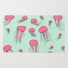 Pastel colors jellyfish Rug