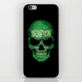 Dark Skull with Flag of Saudi Arabia iPhone Skin