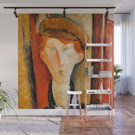 """Amedeo Modigliani """"Young Man with Cap"""" Wall Mural"""