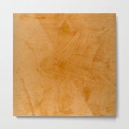 Dante Orange Stucco - Luxury - Rustic - Faux Finishes - Venetian Plaster Metal Print