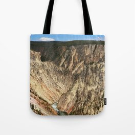 Yellow Rocks Of Yellowstone River Valley Tote Bag
