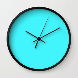 Simple Red Colour Wall Clock