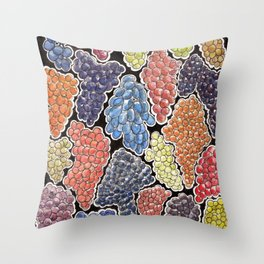 Grapes for wine lovers, gastronomy and restaurants Throw Pillow