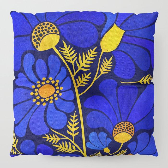 Wildflower Garden Floor Pillow