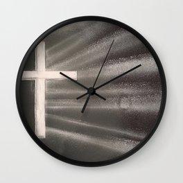 Light Shines Through Darkness Wall Clock