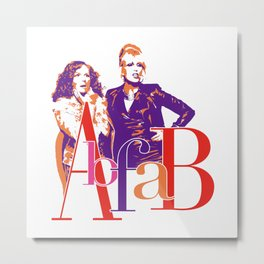 AbFab Metal Print