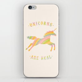 Unicorns Are Real iPhone Skin