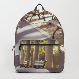 New York City Park Bench Moments Backpack
