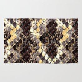 The pattern of snake skin. Rug