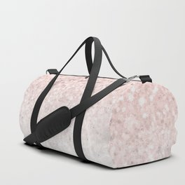 She Sparkles Rose Gold Pink Concrete Luxe Duffle Bag