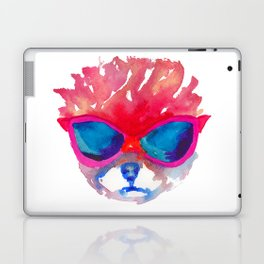 Trimmed Pomeranian in glasses Laptop & iPad Skin