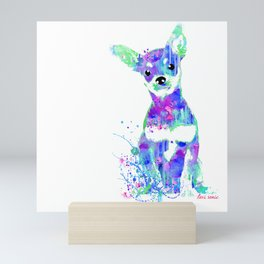 pip the chihuahua Mini Art Print