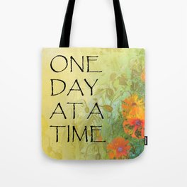 One Day at a Time (ODAT) Lilacs & Poppies Tote Bag