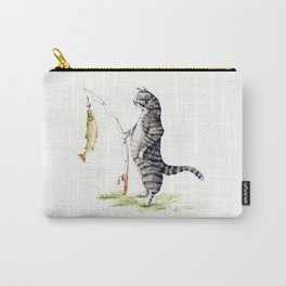 Cat with a Fish Carry-All Pouch